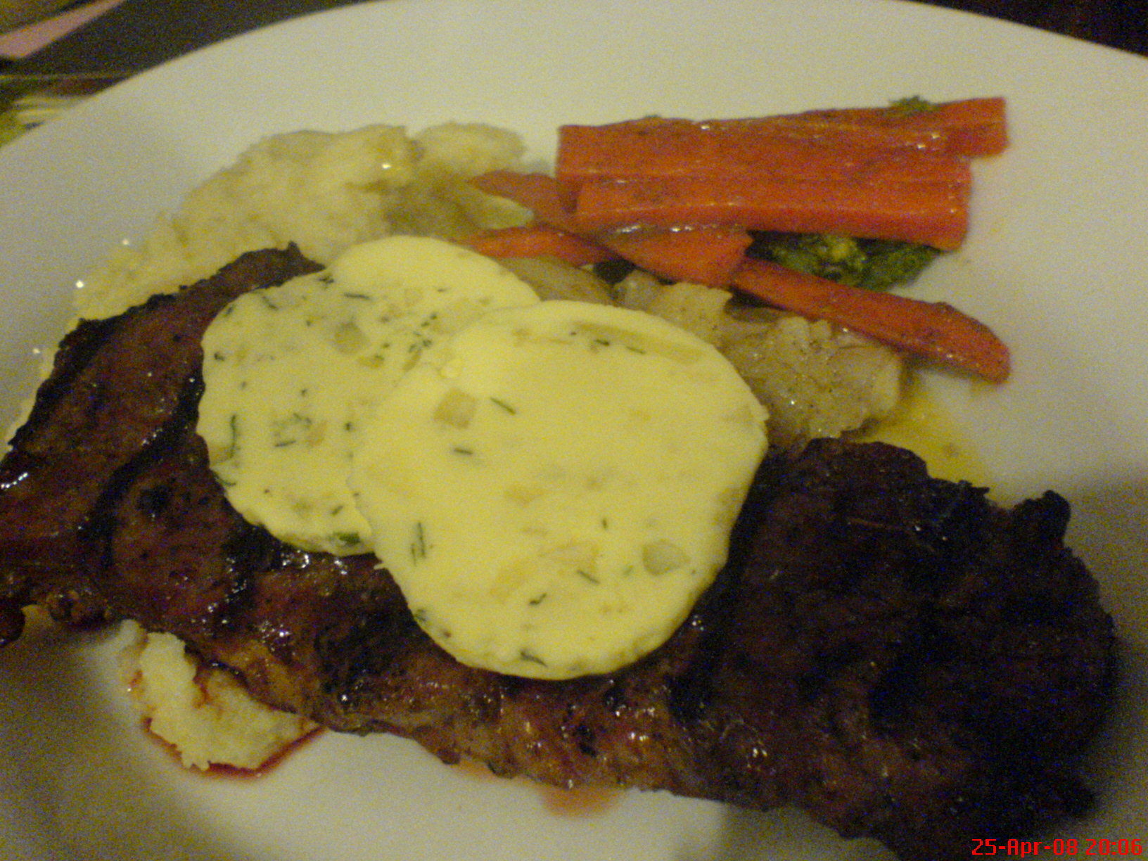 Sirloin Steak with mashed potatoes
