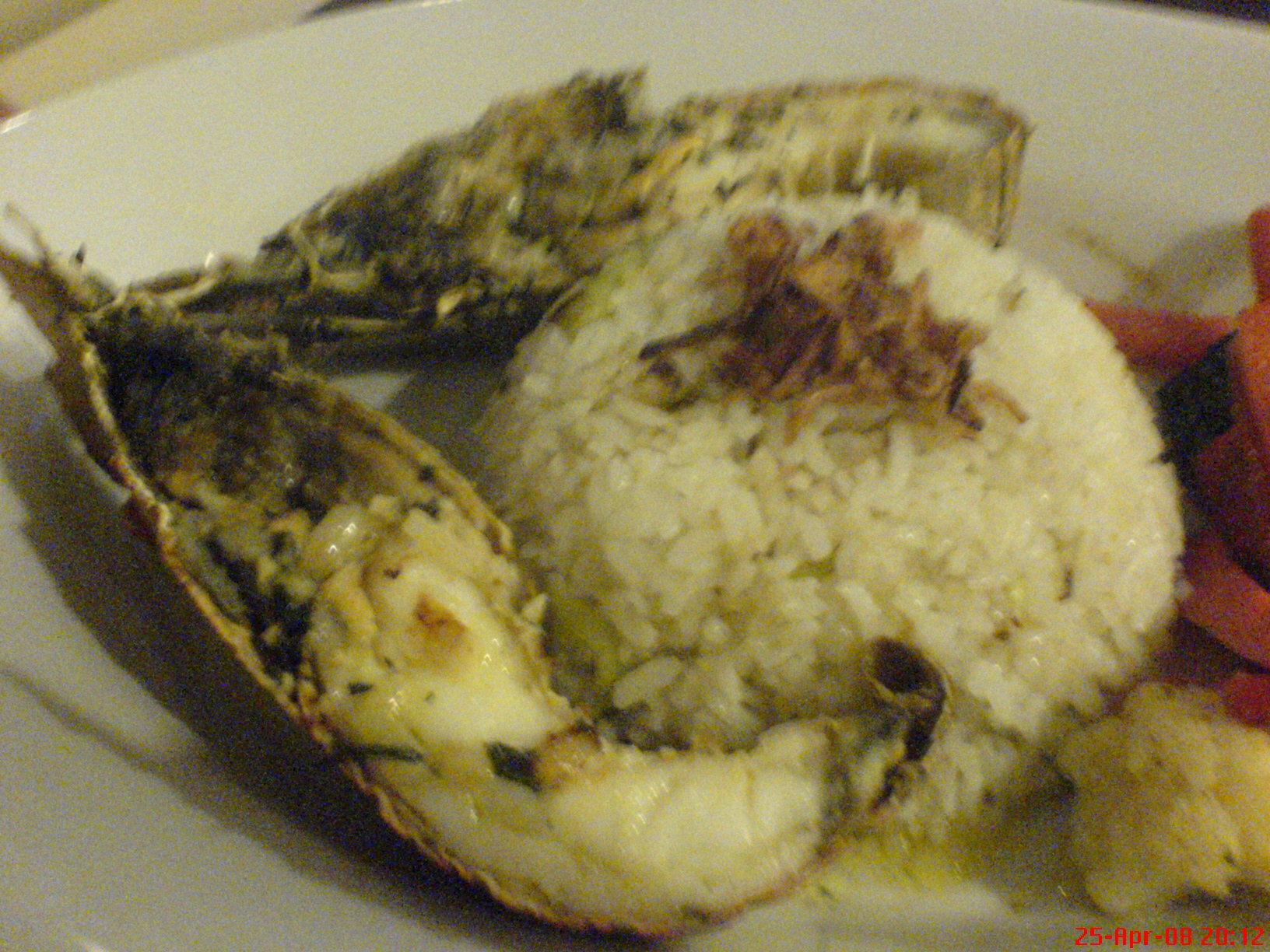 Grill Lobster with fried rice set