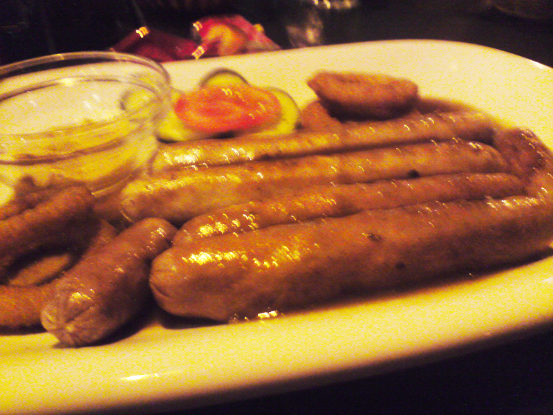 mixed veal & beef sausages