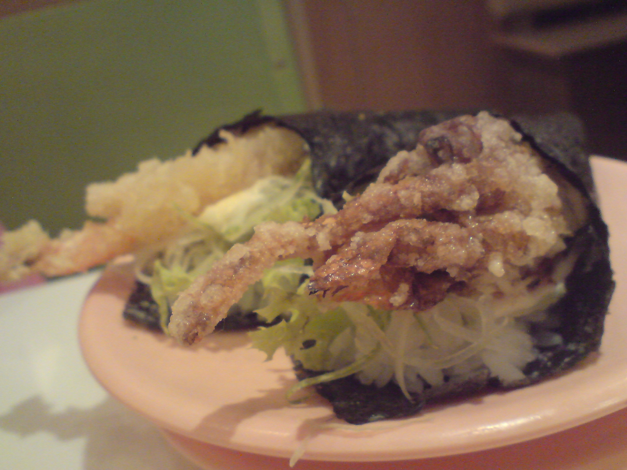Handrolls - softshell crab, fried prawn fritter