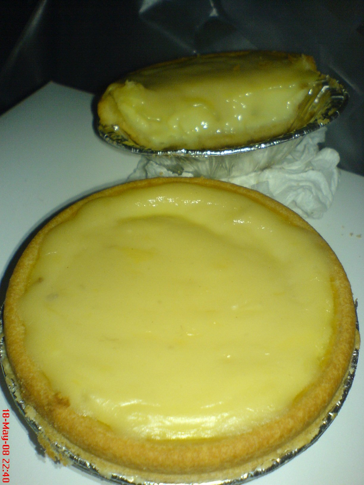 John King's egg & durian tarts