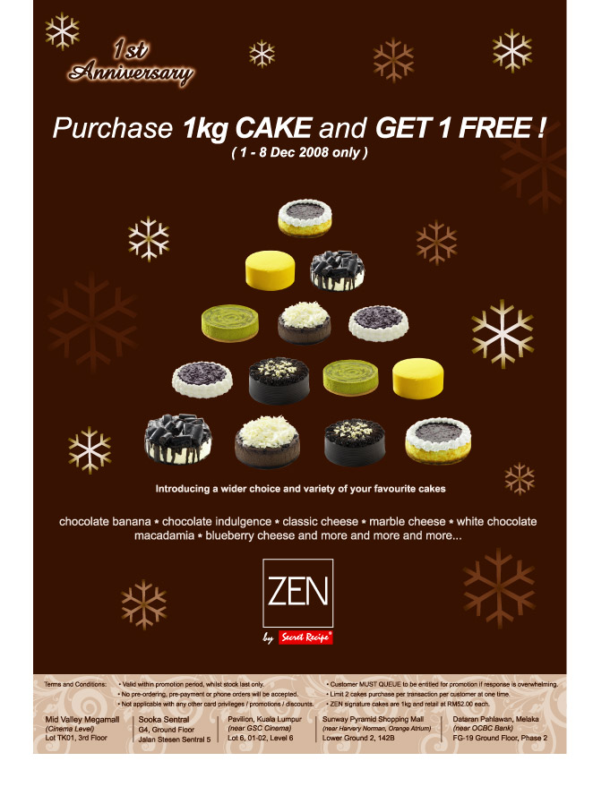 Zen Cafe 1st anni - Buy1 Free 1
