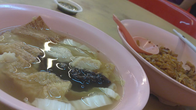 fish paste kuey teow dry