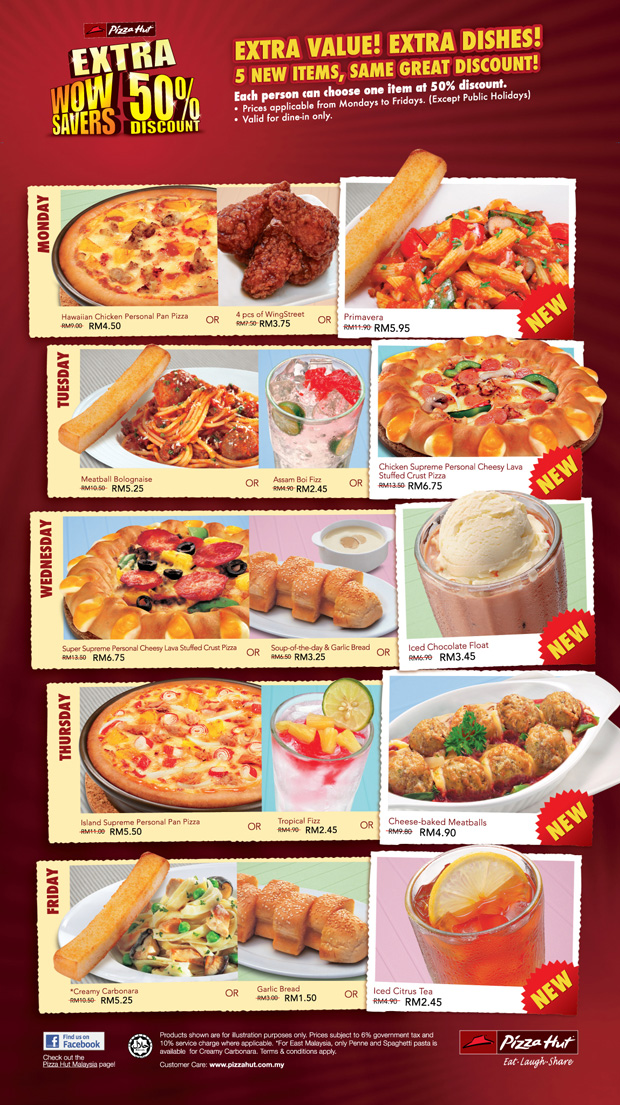 Pizza Hut Half Price promo