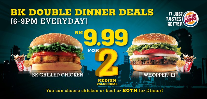 Dinner medium set duo promo RM9.99