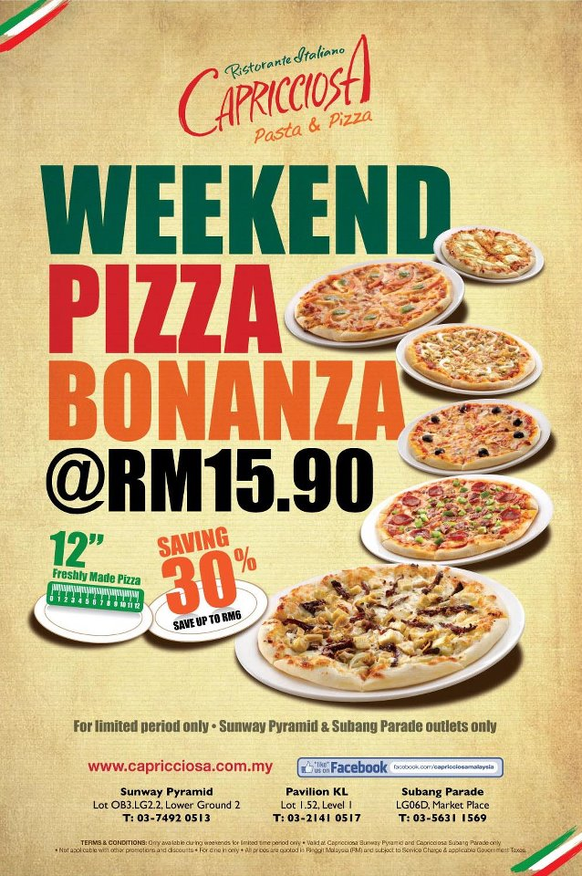 Weekend Pizza Promo all day long