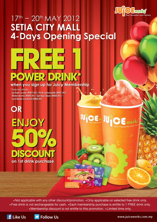 Juice Works 50% off latest promo